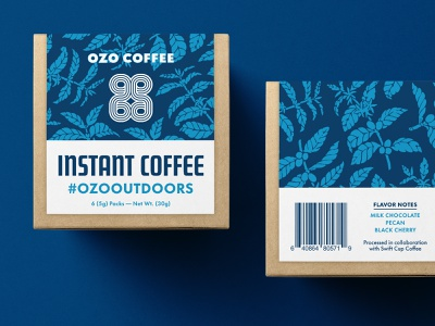 Swift x OZO Coffee Instant Coffee Packaging retail consumer layout pattern coffee typography mockup box package label cpg packaging product design