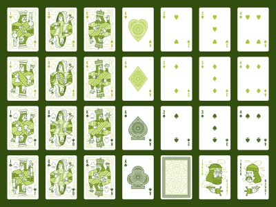 Aces High Playing Card Deck high smoking marijuana weed pot jack queen king royalty illustration design packaging package box playing cards