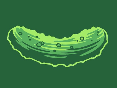 Pickle Illustration icon illustration cucumber vegetable produce grocery ingredient sandwich food snack pickle kosher dill