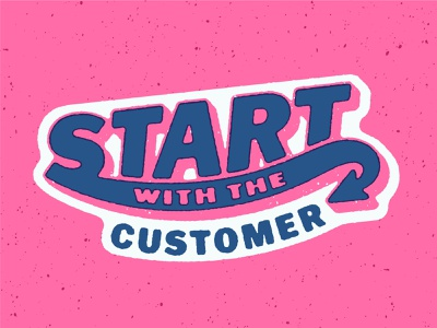 Start with the Customer Badge icon badge retro vintage fonts lettering 3d drop shadow typography type custom