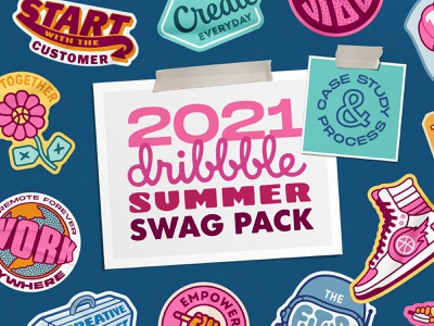Summer 2021 Dribbble Badge Series custom series symbol seal illustration icon badge creative logo brand