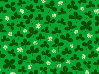 Wild Clover Pattern green plants leaves repeat holiday st. patrick shamrock