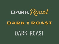 Dark Roast Lettering Exploration