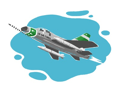 F-100 Super Sabre american u.s. classic vintage dog fight fighter sky flight miliatary air force jet aviation airplane aerospace