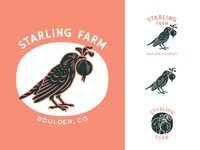 Starling Farm Logo System