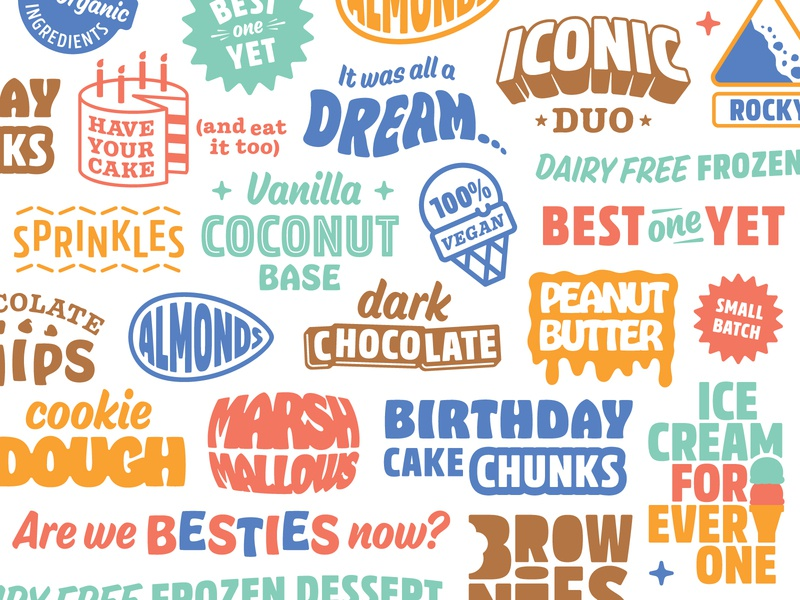 Best One Yet Visual Elements food snack ice cream flavors packaging lockup styles effects 3d custom typography type