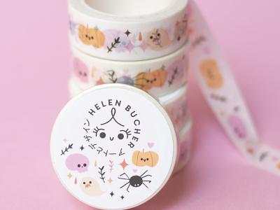 Washi Tape Halloween Design helen bucher kawaii cute halloween washi tape design washitape washi tapes