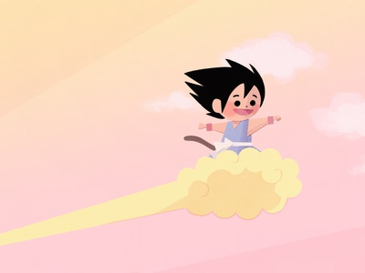 Son Goku children book illustration childrens illustration illustration fanart dragonball songoku
