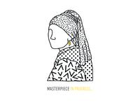Girl with the acrylic earring.