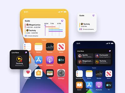 Twitch iOS 14 Widgets widgets ios14 guide timeline schedule ipad iphone ios widget