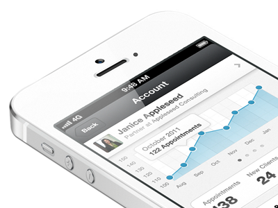 Stats iphone ios mobile app interface ui stats