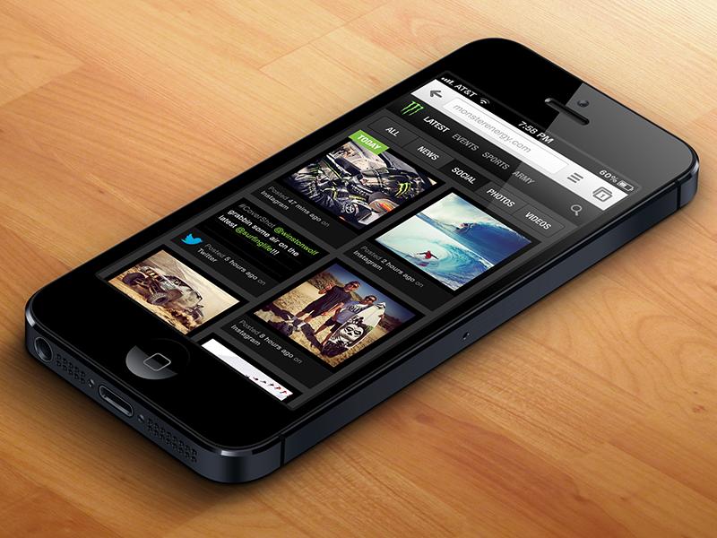 Social Feed ui interface mobile site web design design concept website mobile iphone