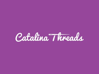 Catalina Threads catalina threads apparel logo design