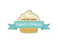 Custom Cakes by Crystal Designs Logo