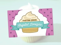 Custom Cakes by Crystal Designs Business Cards