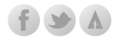 Gray Social Icons social icons facebook twitter forrst linkedin dribbble