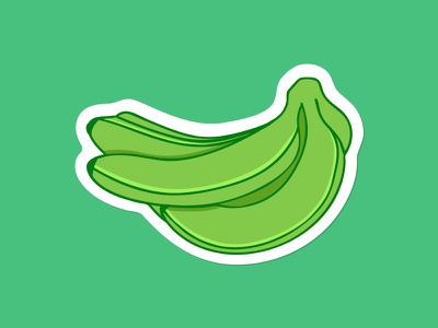 Plantain sticker badge patch illustration dominican republic platano banana green plantain