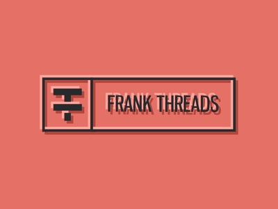 FrankThreads Logo identity branding wip apparel clothing frankthreads red grapefruit logo
