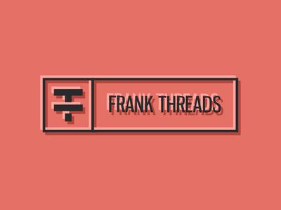 FrankThreads Logo identity branding wip apparel clothing frankthreads red grapefruit logo