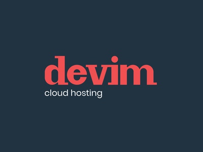 Logotype for 'Devim - cloud hosting'