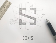 S monogram sketch (logo for photograhper)
