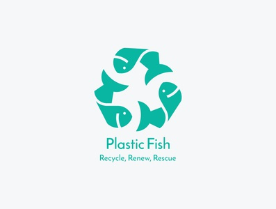 Logo design for 'Plastic fish'