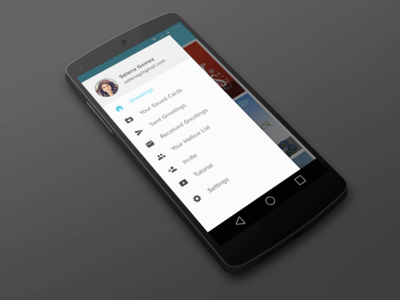 HallowGram App ui ux branding mobile greeting visual design android l
