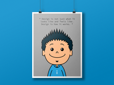 Wall Posters for Startups expression manager designer inspiration quote character dev hacker team cartoon wall poster