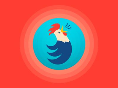 Rooster / Logo Design brand badge geometric logo mascot vector illustration rooster animal