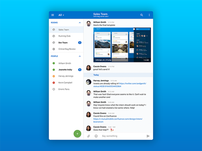 HipChat Tablet App Redesign material design conversation messenger ux application app android tablet chat hipchat