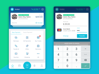 Wallet Concept for Android transfer payment mobile pay finance card android india wallet money