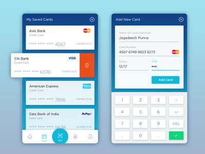 Wallet: Save/Delete Cards credit save edit pay payment india mobile android finance money wallet card