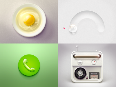 老图 icons icon design radio egg phone theme vector button design ui photoshop
