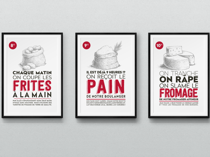 Affiches Upper Burger idealcomm bordeaux france poster