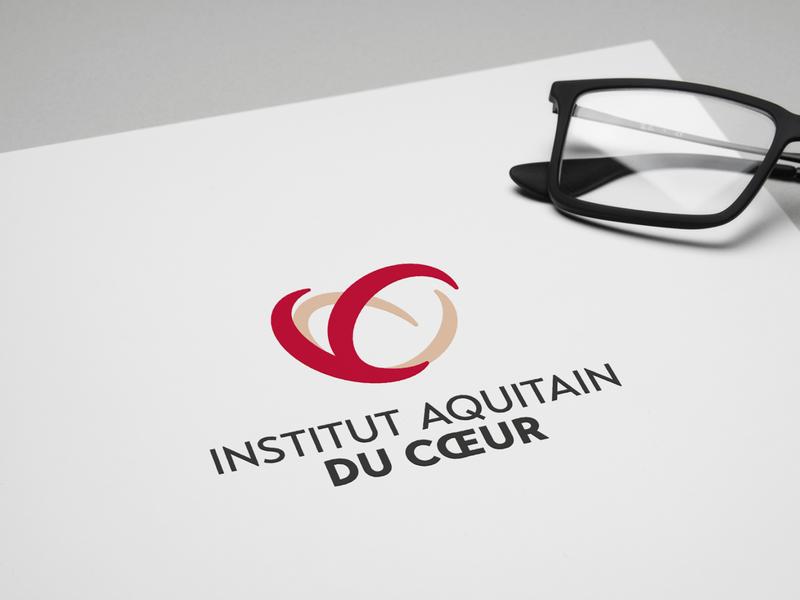 Institut aquitain du cœur branding aquitaine bordeaux surgery health logotype brand identity logo