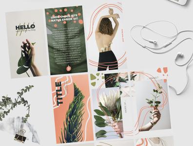 Floral Minimalistic Instagram Stories