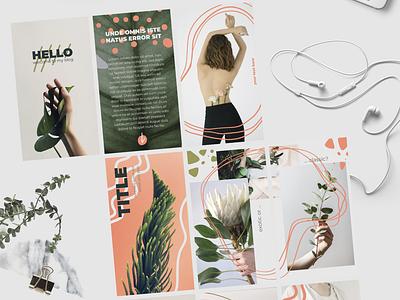 Floral Minimalistic Instagram Stories illustrator photoshop graphic design instagram template instagram stories instagram