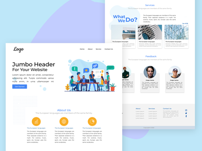 Web UI Design - Company Profile vector figma branding landing page website webdesign web color xd design ux ui design