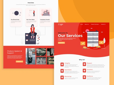 Web UI Design - Professional Services figma landing page website webdesign web color xd design ux ui design