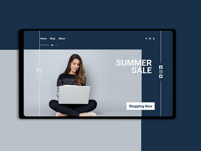 Web UI design - Summer Sale website webdesign web color xd design ui ux design