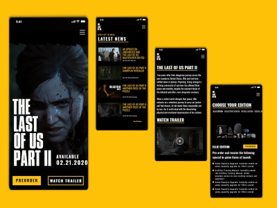 Mobile UI Design - The Last of Us Part II game mobile ui mobile design mobile app design web color xd design ui ux design
