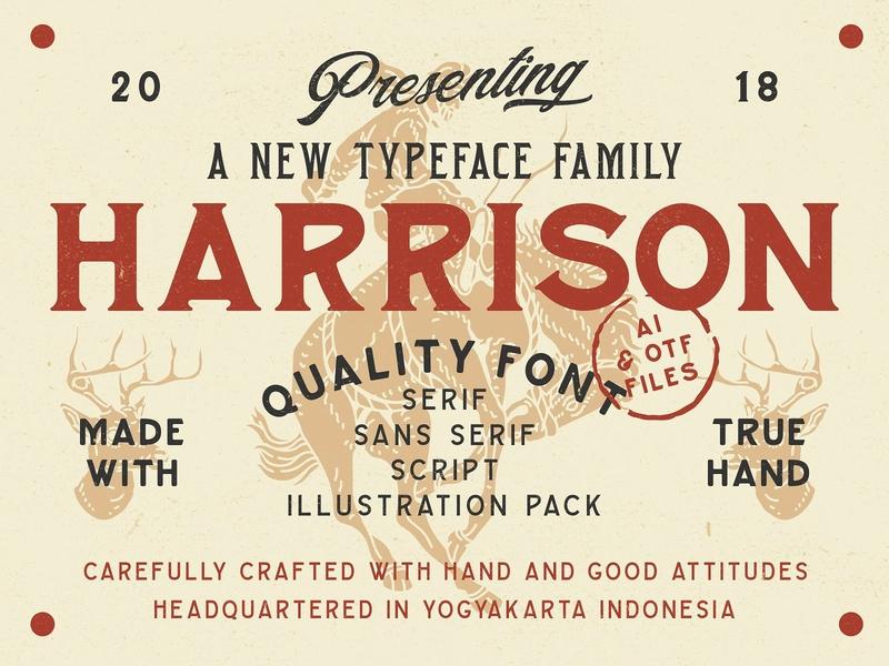 Harrison Typeface Family