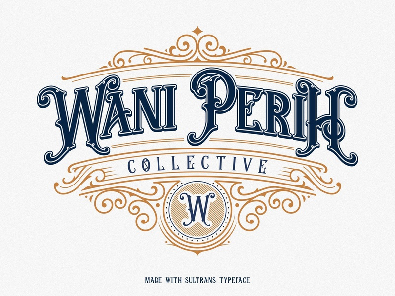 Sultrans Typeface Lettering