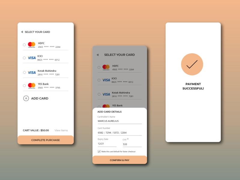 DailyUI#002 payment form checkout page app ui dailyuichallenge dailyui design