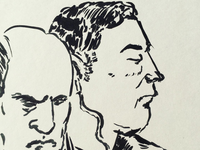 People on the train portraits