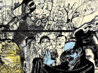 Work in Progress illustratie brushpen illustration inktober drawing drawings