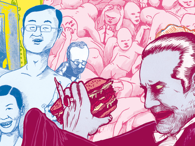 Bela eating burger digitaldrawing burger vrijwerk illustratie utrecht hireme belalugosi donorbrain coloring sketchbook illustration drawing