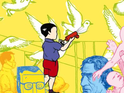 Illustration freelancer generativeart utrecht maxcady birds mondkapjes pesticide donorbrain drawings freelance illustration visualization artwork digital visual art visual