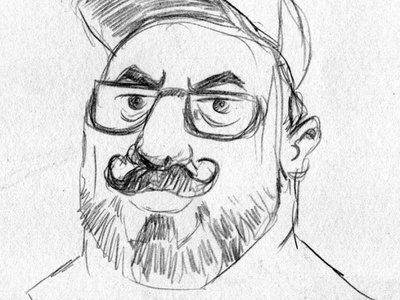 Portrait drawing of friend Ovidiu character portret illustratie sketches sketch cartoon toon portrait illustration