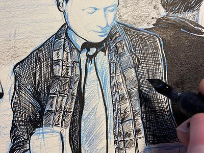 Illustration for a novel novel workinprogress drawing ink drawing texture geillustreerd utrecht donorbrain dylan thomas boek illustratie ink inking visualstorytelling illustratedstory book cover book illustrated illustrations illustration